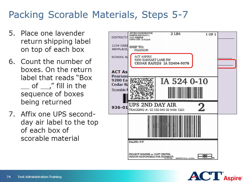 Packing Scorable Materials, Steps 5-7