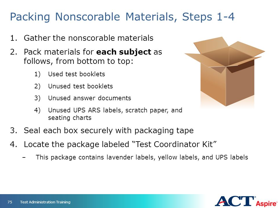 Packing Nonscorable Materials, Steps 1-4
