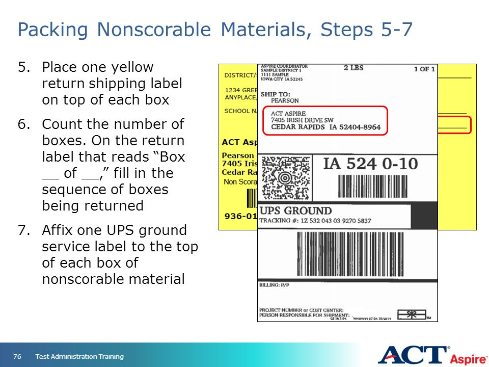 Packing Nonscorable Materials, Steps 5-7