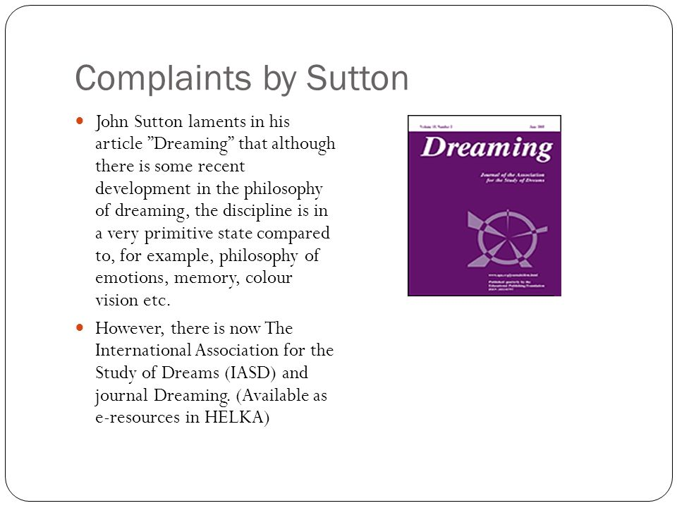 Complaints by Sutton