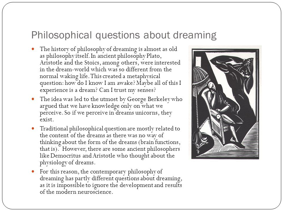 Philosophical questions about dreaming
