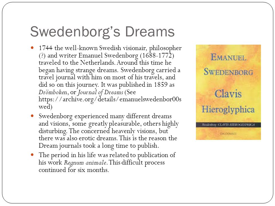 Swedenborg's Dreams