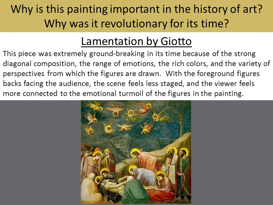 Why is this painting important in the history of art