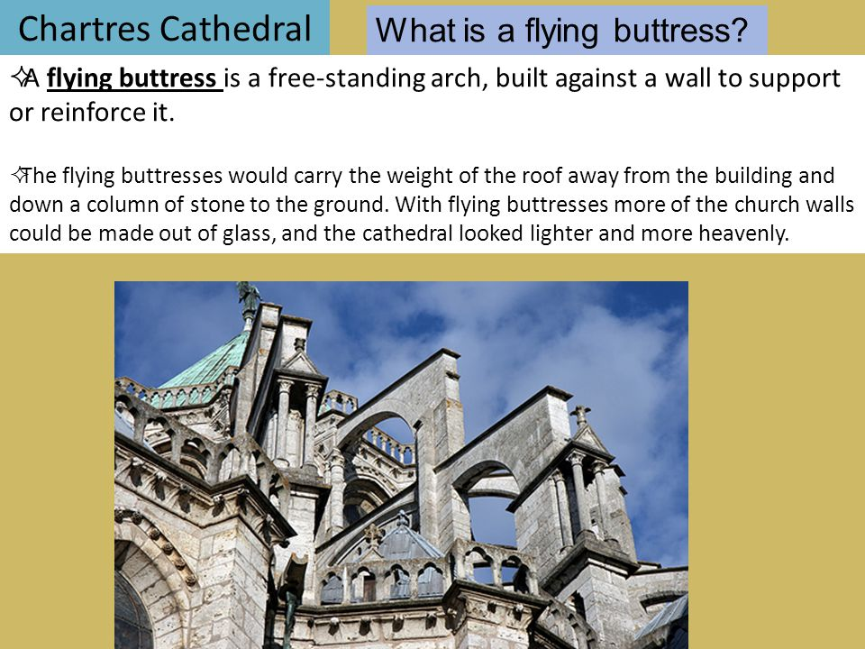 Chartres Cathedral What is a flying buttress