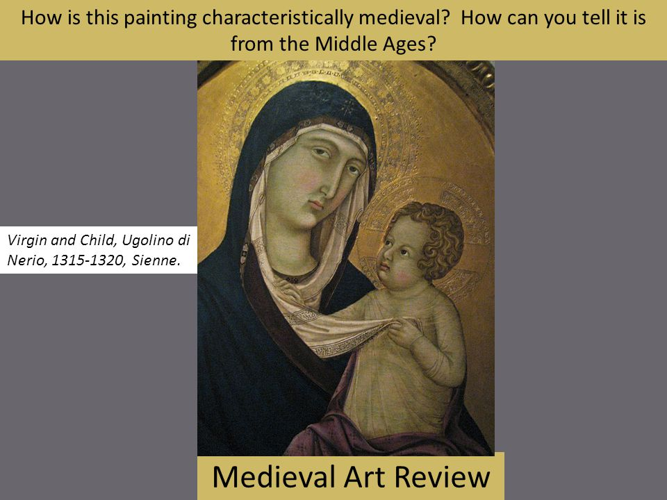How is this painting characteristically medieval