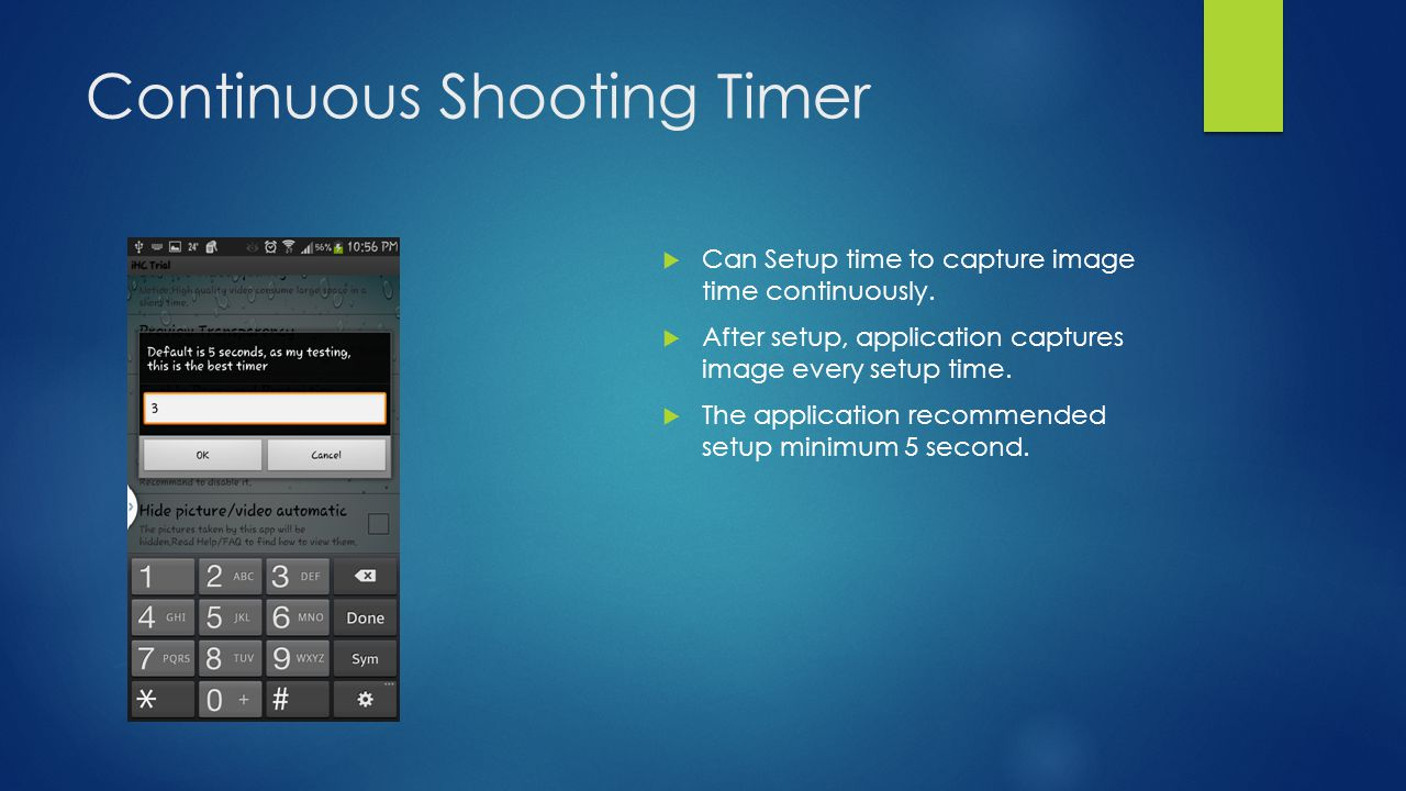 Continuous Shooting Timer