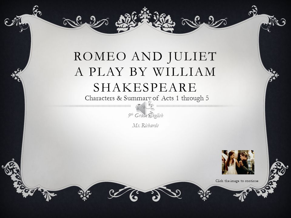 Romeo and Juliet Analysis - Essay