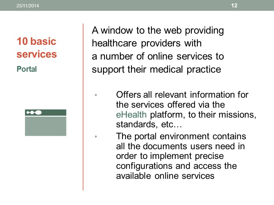 10 basic services A window to the web providing