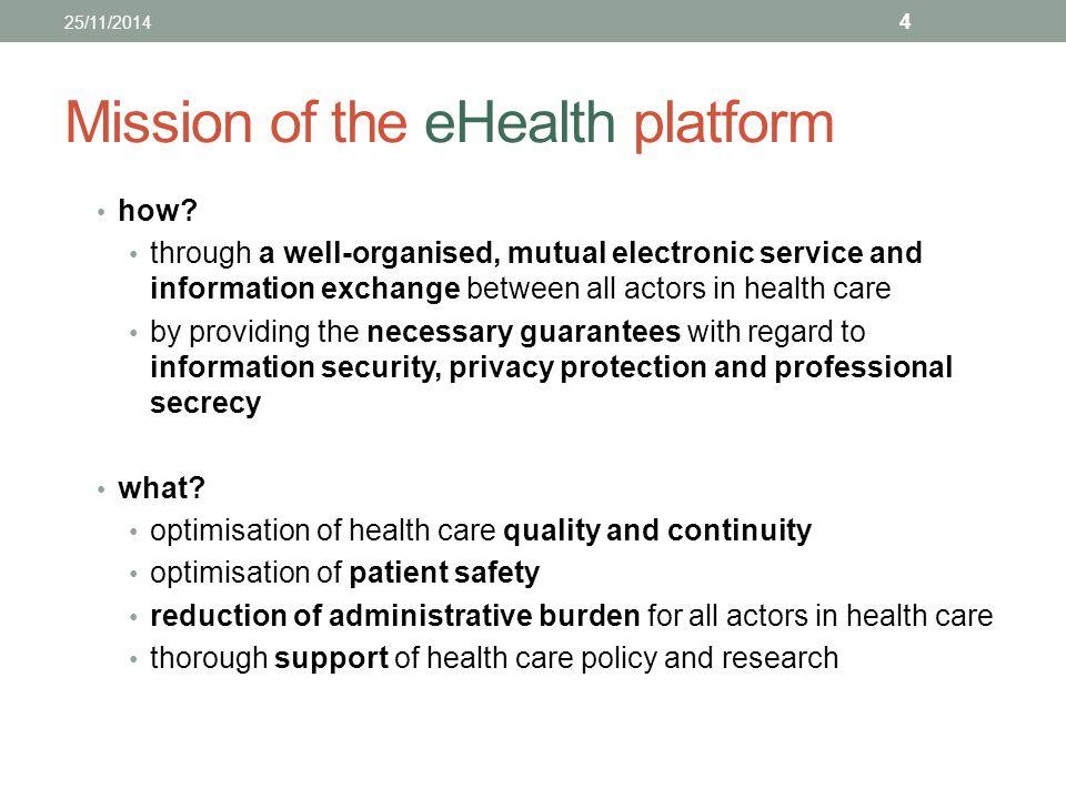 Mission of the eHealth platform