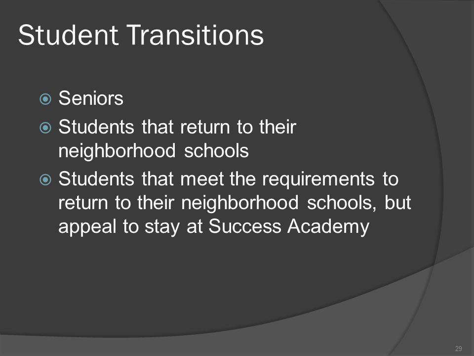 Student Transitions Seniors