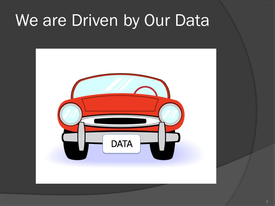 We are Driven by Our Data