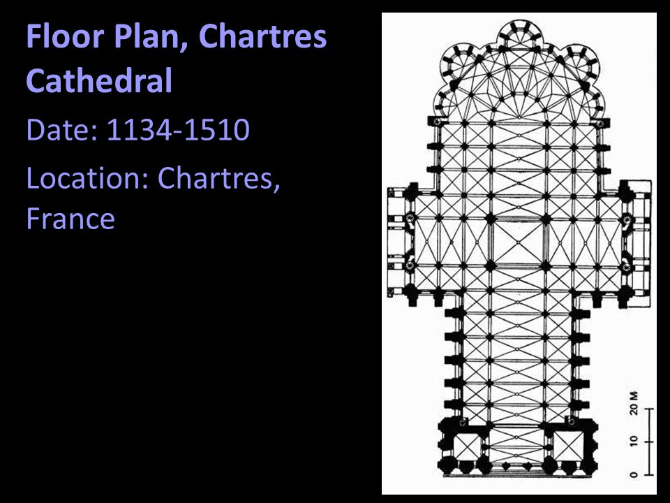 Floor Plan, Chartres Cathedral
