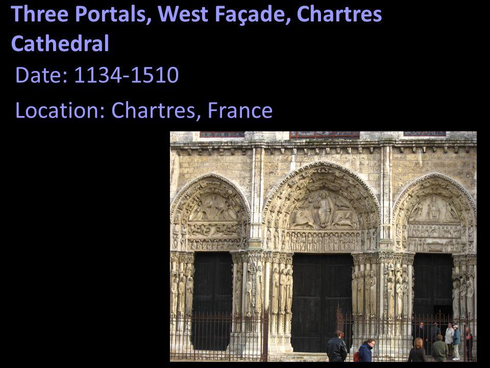 Three Portals, West Façade, Chartres Cathedral