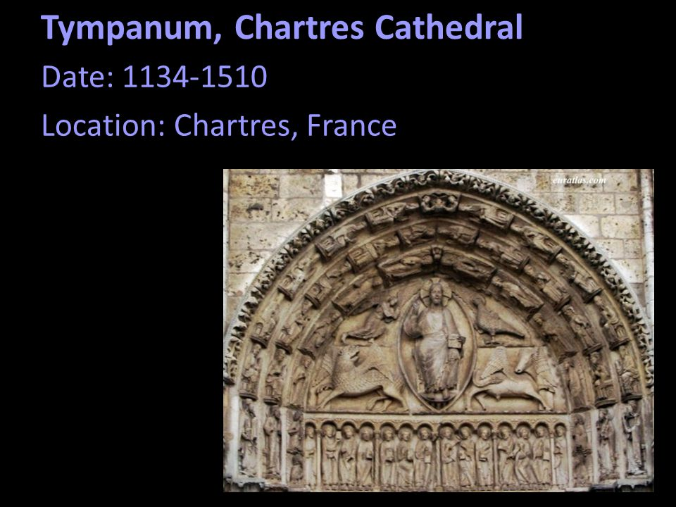 Tympanum, Chartres Cathedral