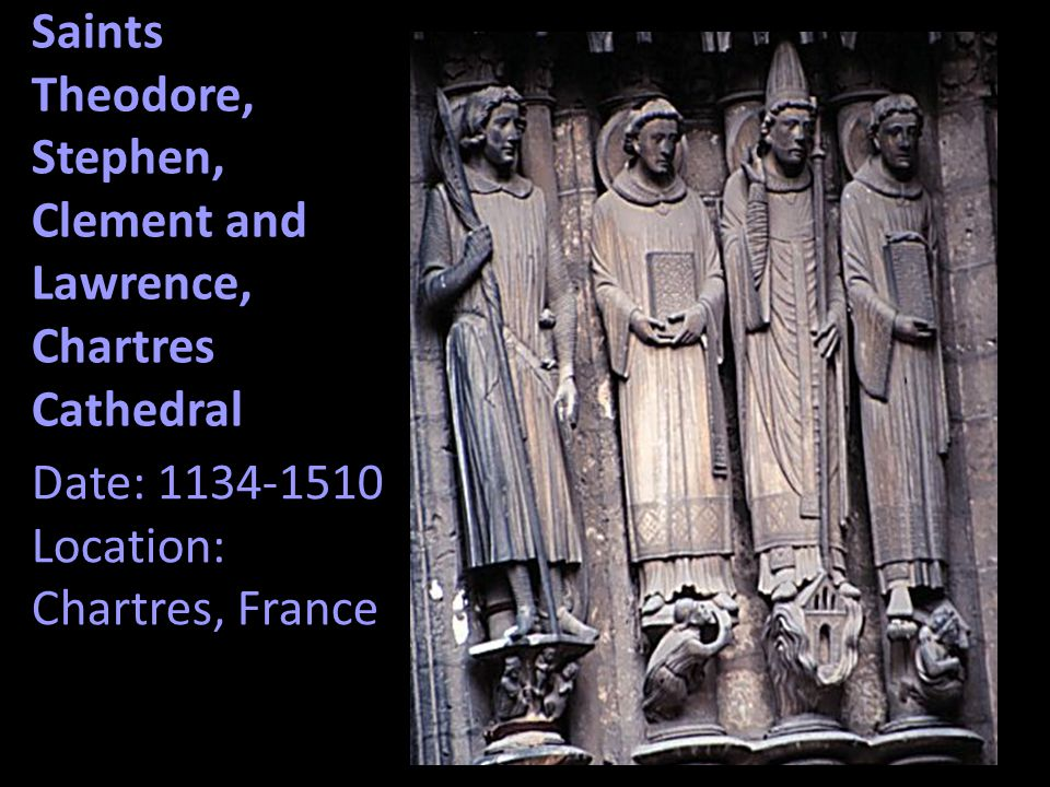 Saints Theodore, Stephen, Clement and Lawrence, Chartres Cathedral