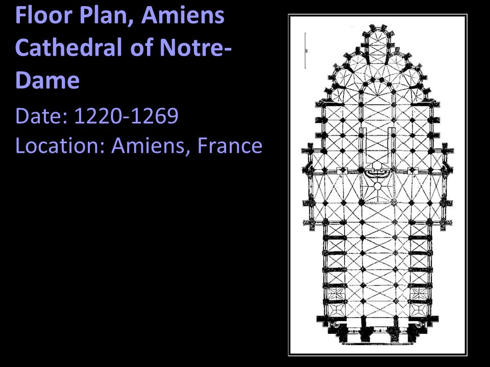 Floor Plan, Amiens Cathedral of Notre-Dame