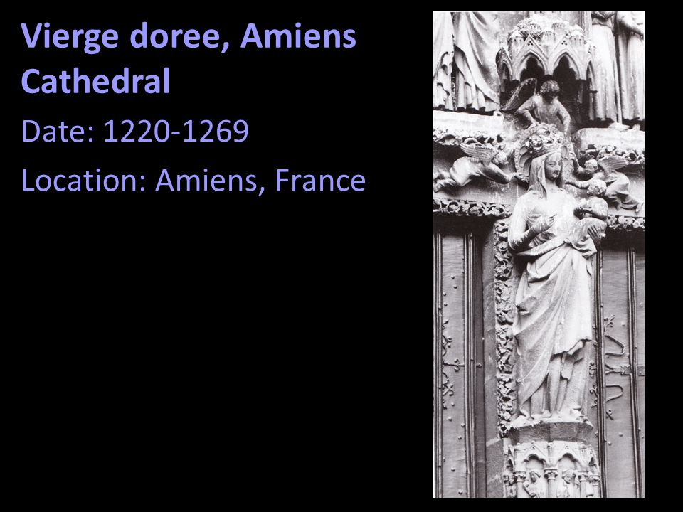 Vierge doree, Amiens Cathedral