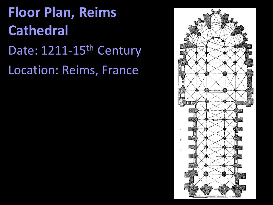 Floor Plan, Reims Cathedral