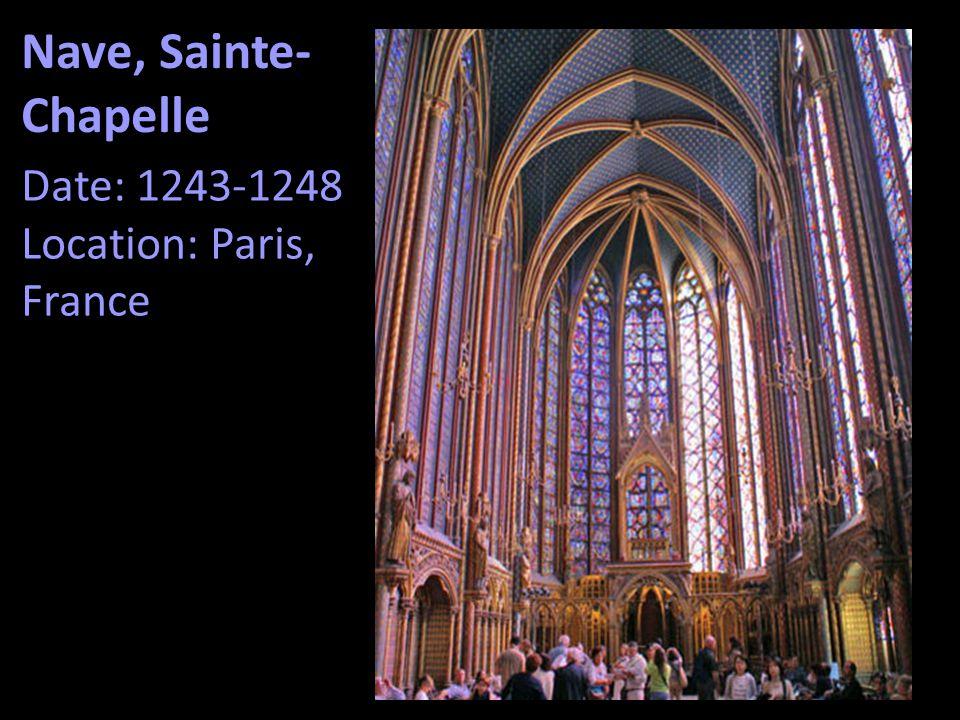 Nave, Sainte-Chapelle Date: 1243-1248 Location: Paris, France