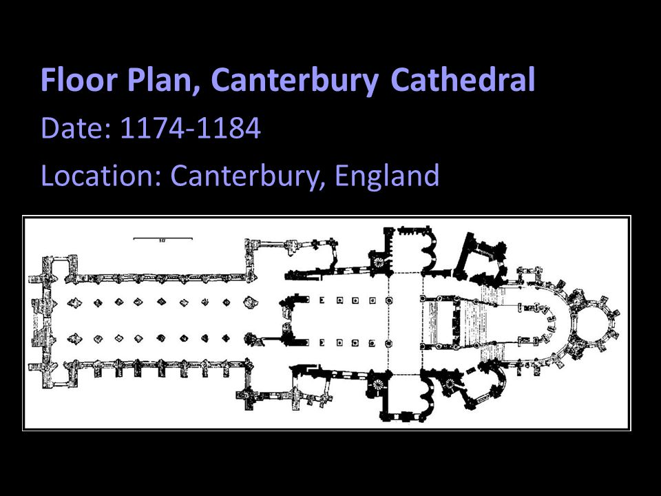 Floor Plan, Canterbury Cathedral