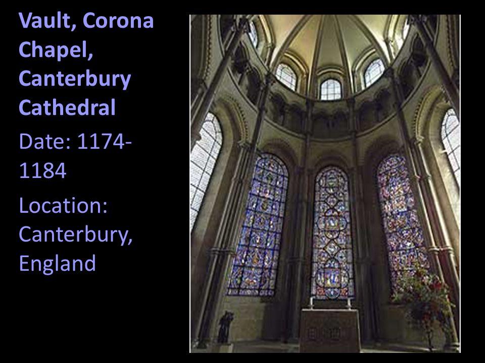 Vault, Corona Chapel, Canterbury Cathedral