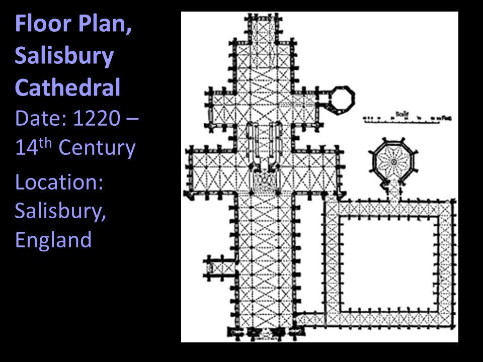 Floor Plan, Salisbury Cathedral