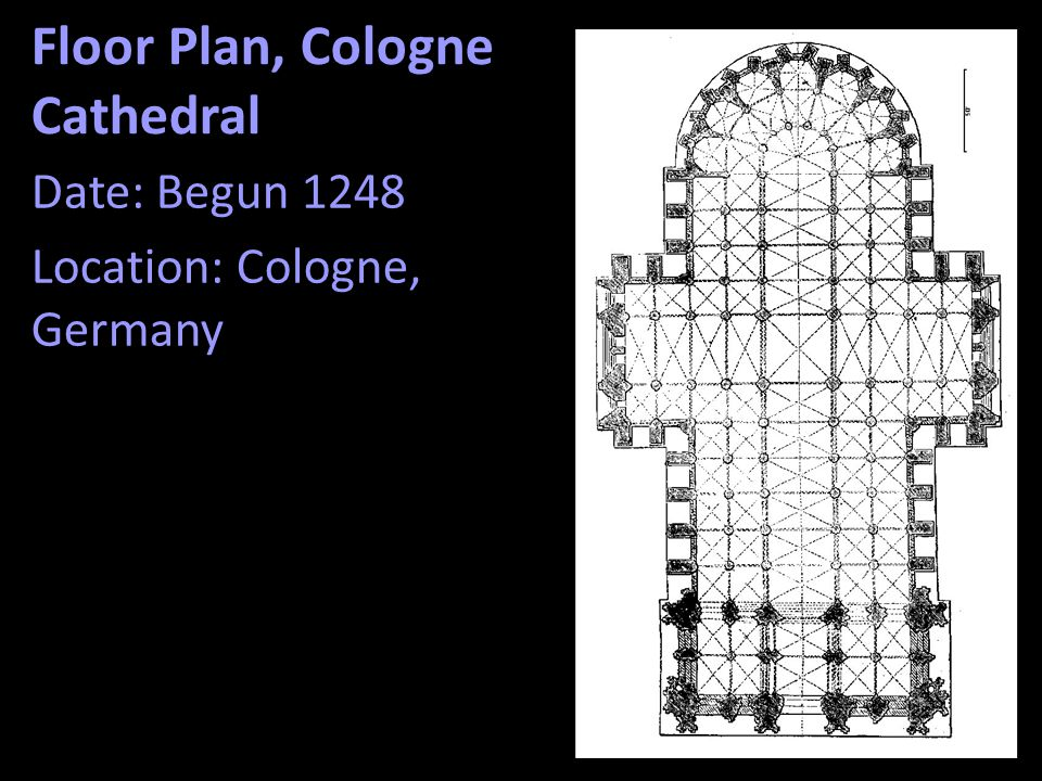 Floor Plan, Cologne Cathedral