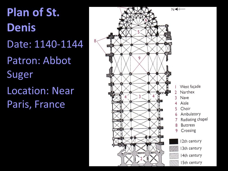Plan of St. Denis Date: 1140-1144 Patron: Abbot Suger