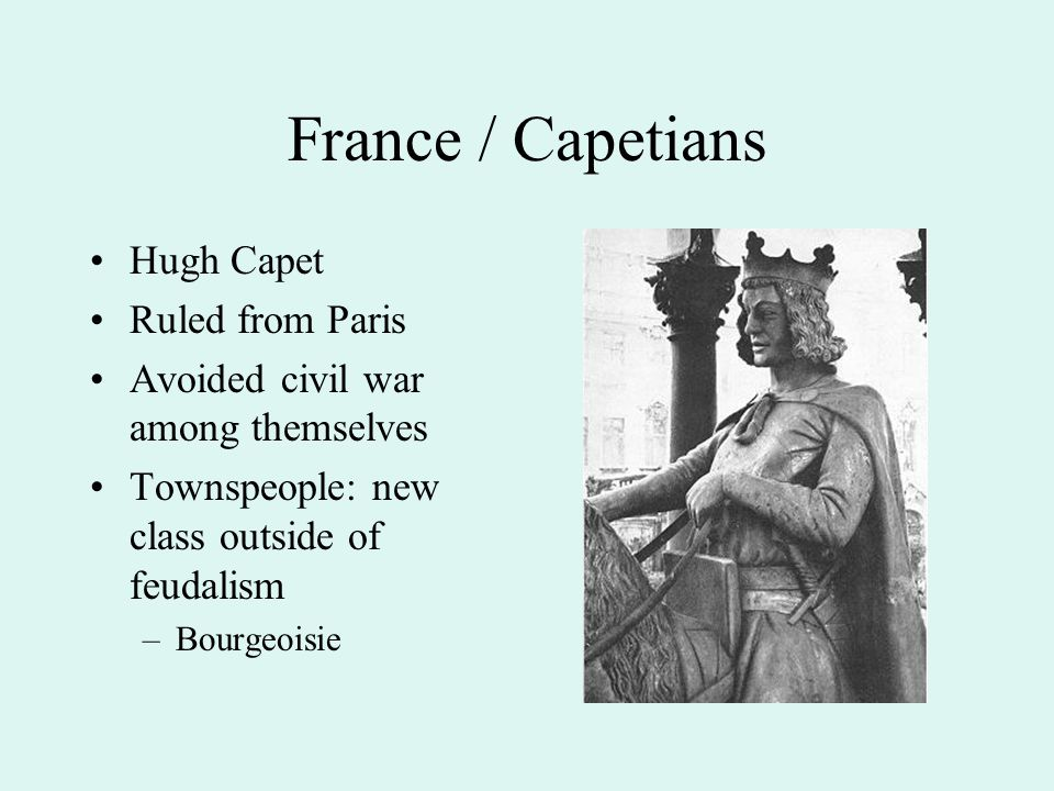France / Capetians Hugh Capet Ruled from Paris