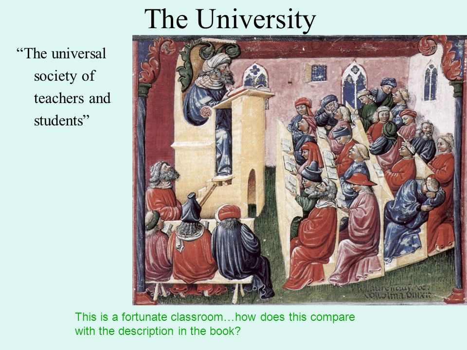 The University The universal society of teachers and students