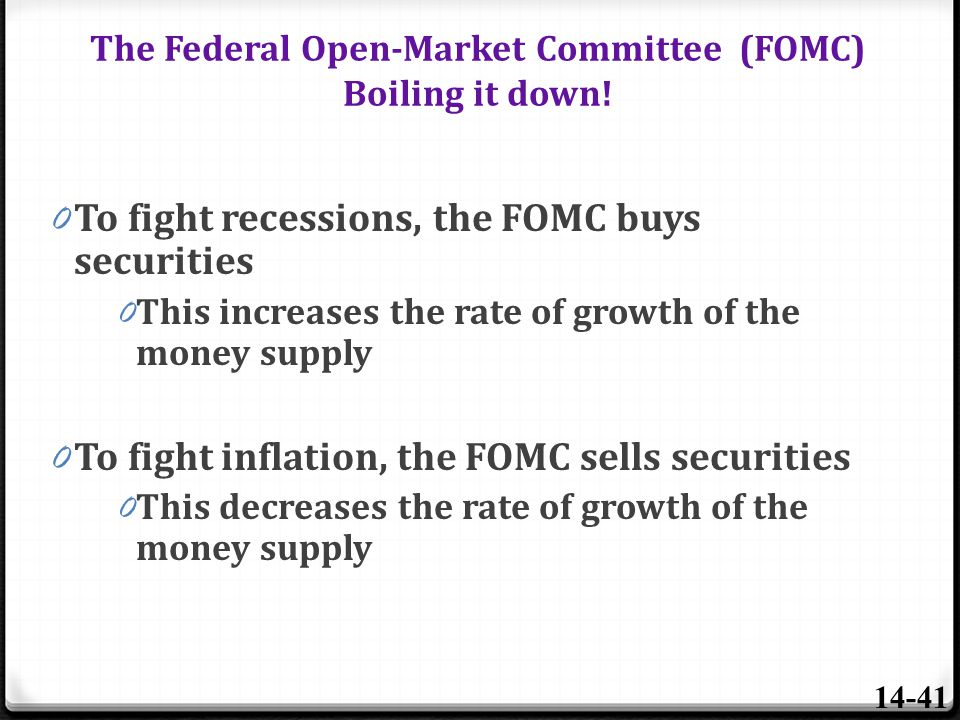 The Federal Open-Market Committee (FOMC) Boiling it down!