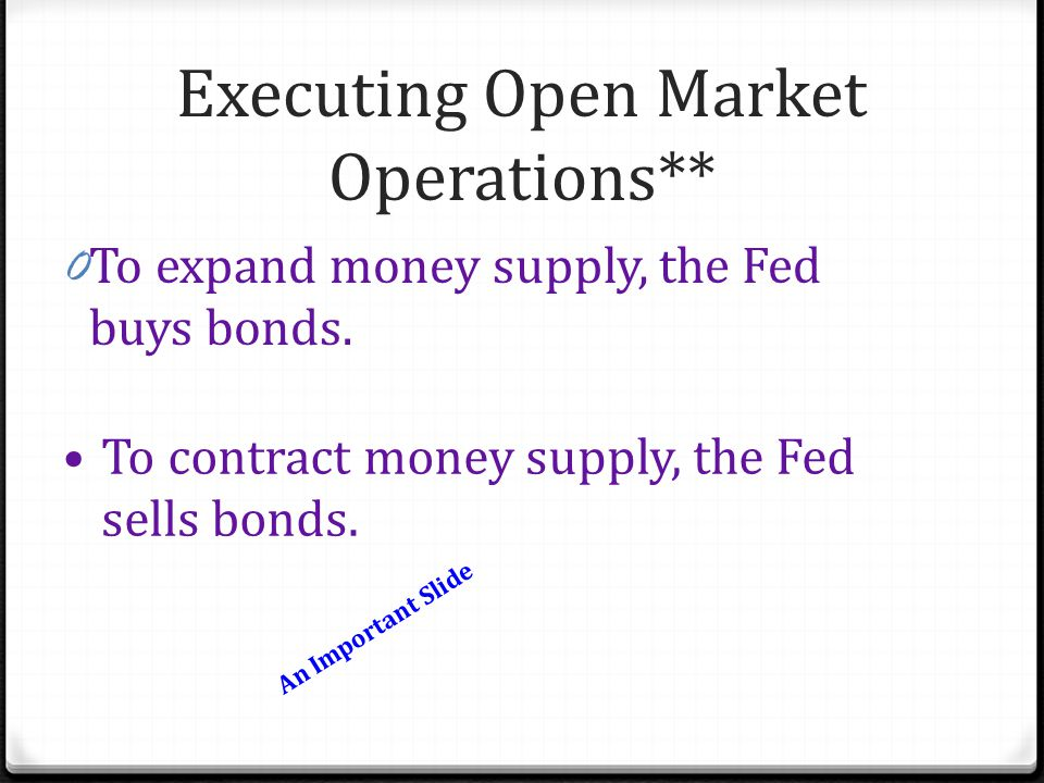 Executing Open Market Operations**