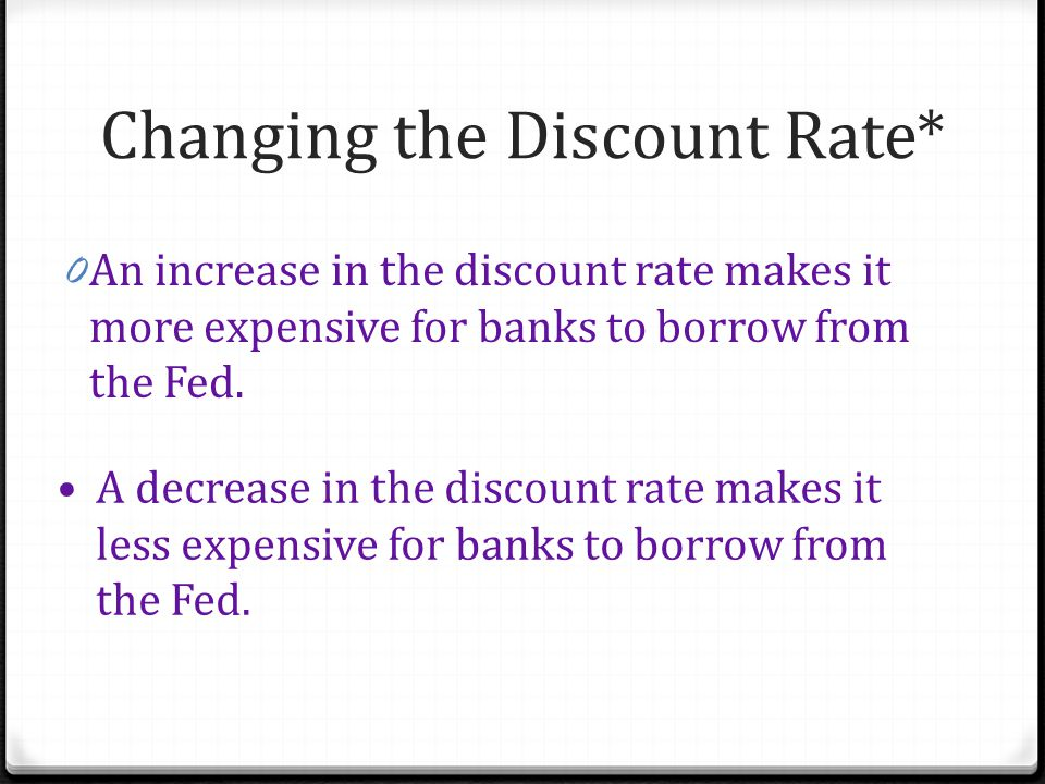 Changing the Discount Rate*