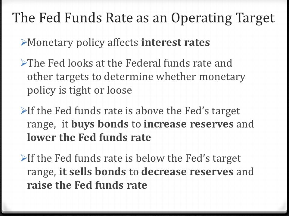 The Fed Funds Rate as an Operating Target