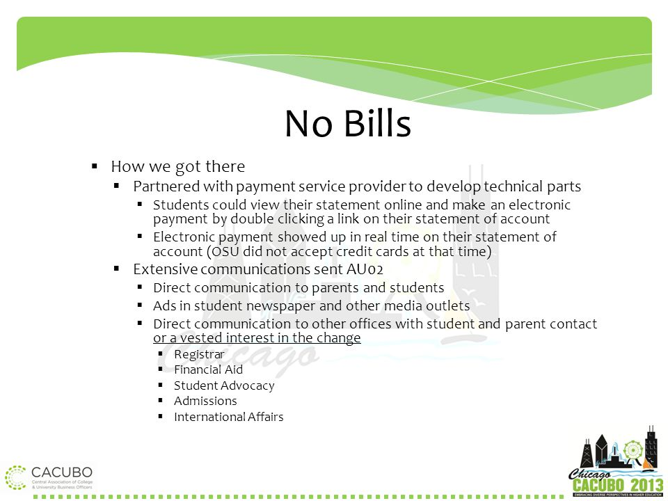 No Bills How we got there