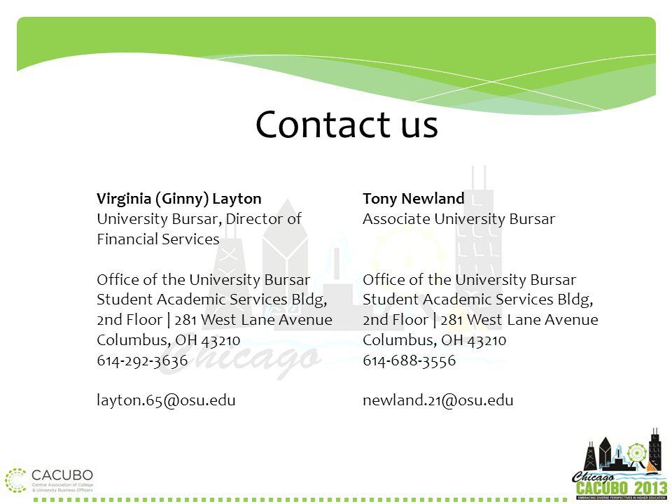 Contact us Virginia (Ginny) Layton