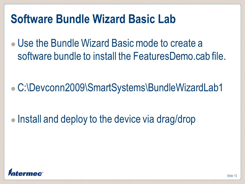 Software Bundle Wizard Basic Lab