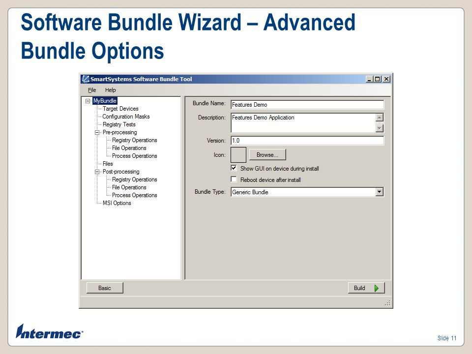 Software Bundle Wizard – Advanced Bundle Options