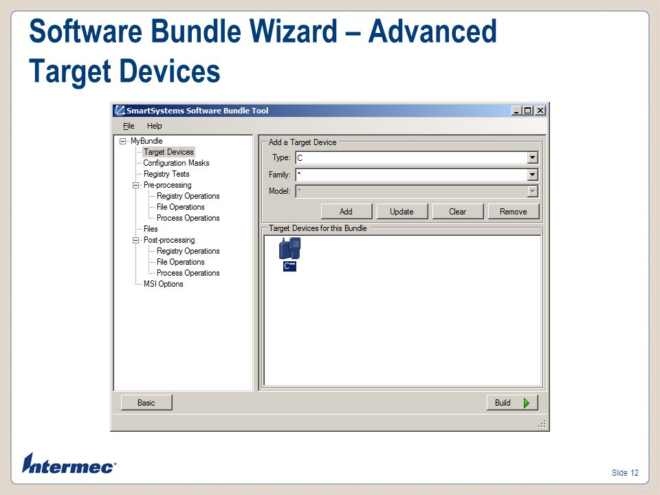 Software Bundle Wizard – Advanced Target Devices