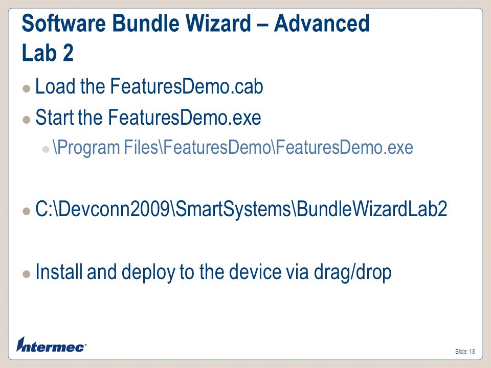 Software Bundle Wizard – Advanced Lab 2