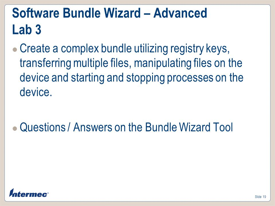 Software Bundle Wizard – Advanced Lab 3