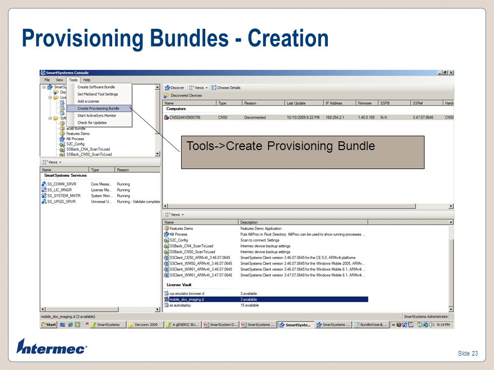 Provisioning Bundles - Creation