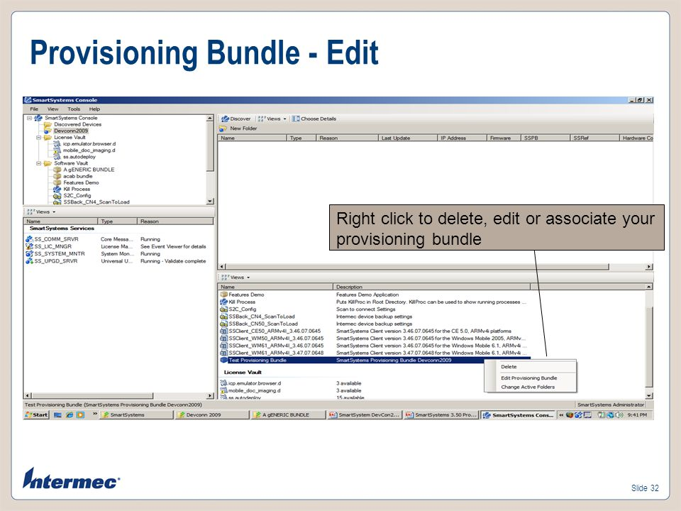 Provisioning Bundle - Edit