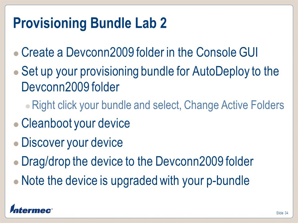 Provisioning Bundle Lab 2