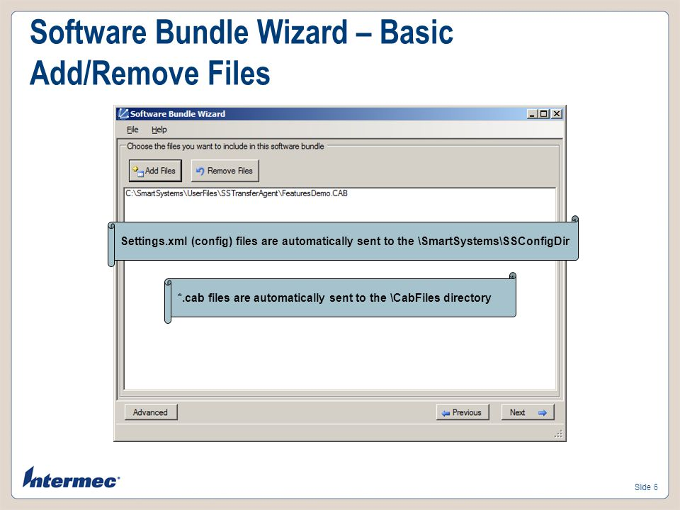 Software Bundle Wizard – Basic Add/Remove Files