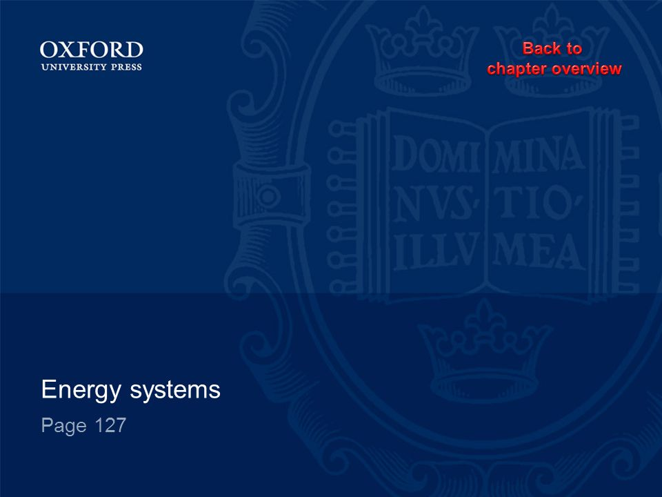 Back to chapter overview Energy systems Page 127