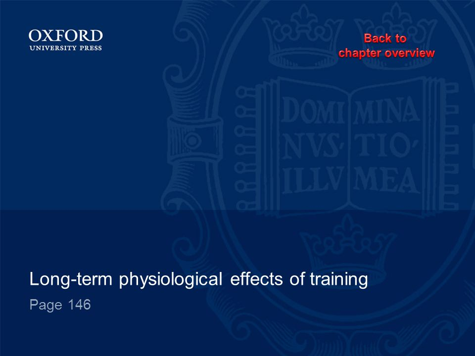 Long-term physiological effects of training