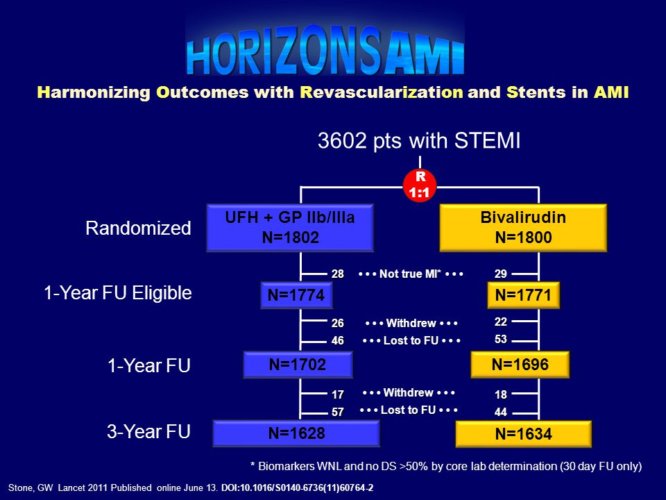 Harmonizing Outcomes with Revascularization and Stents in AMI