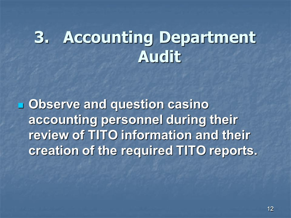 3. Accounting Department Audit