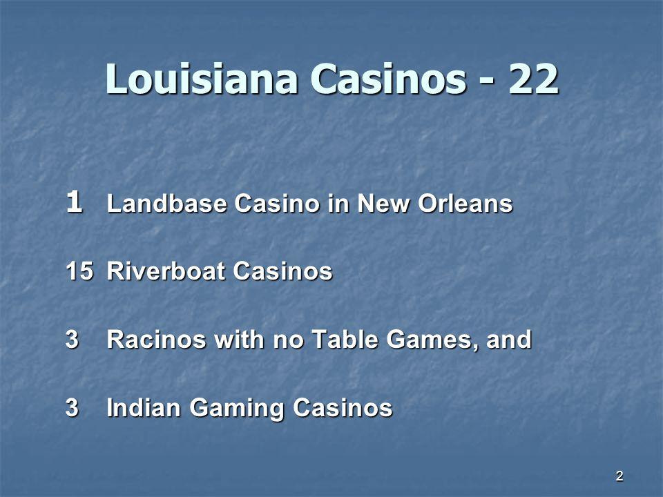 Louisiana Casinos - 22 1 Landbase Casino in New Orleans